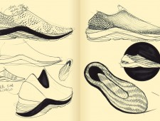 Sketchbook Drop For August 16th, 2012 (A Preview of the Philosophy Of FlyKnit)